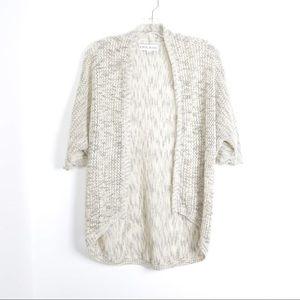 Oversized beige open front cozy dolmain knit boho